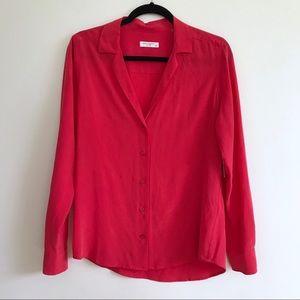 Equipment Adalyn Long Sleeve Silk Shirt